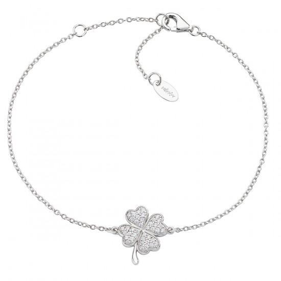 Amen Bracelet Woman Fortuna Four-Leaf Clover Silver BRQUBBZ