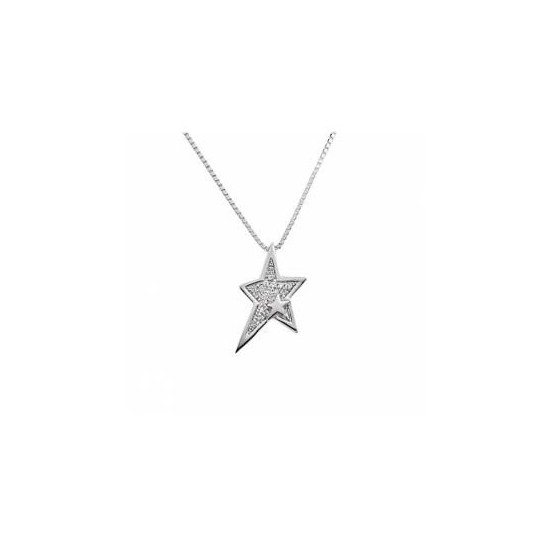 Thierry Mugler Women's Necklace Star ad White Crystal T41159Z