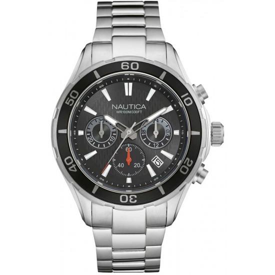 Nautica Orologio Uomo Cronografo Silver e Nero NAD18525G