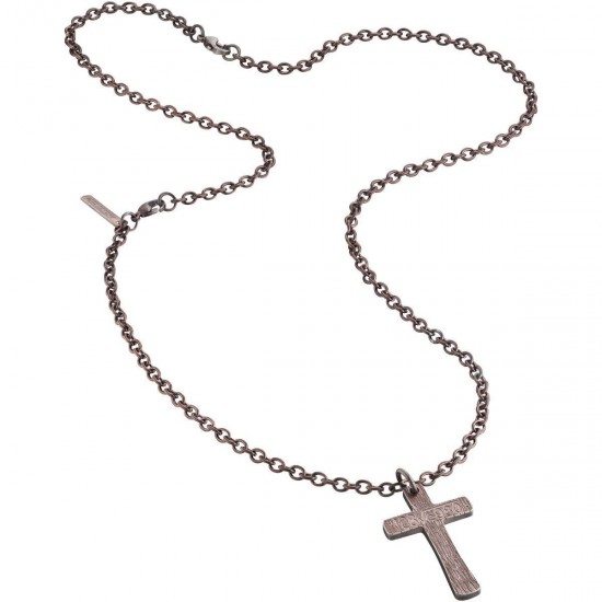 Police Necklace Man Cross Collection Rose Gold PJ.