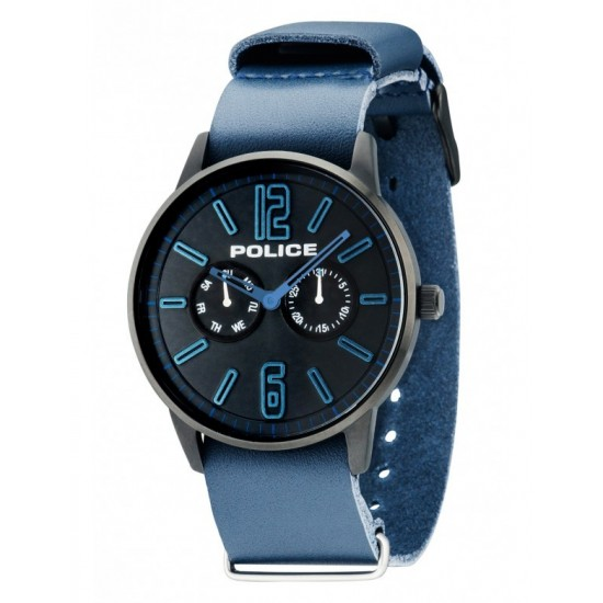 Police Watch Man Multifunction Esquire Collection Blue PL.