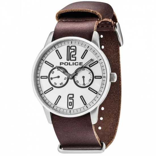 Police Watch Man Multifunction Esquire Collection Brown PL.