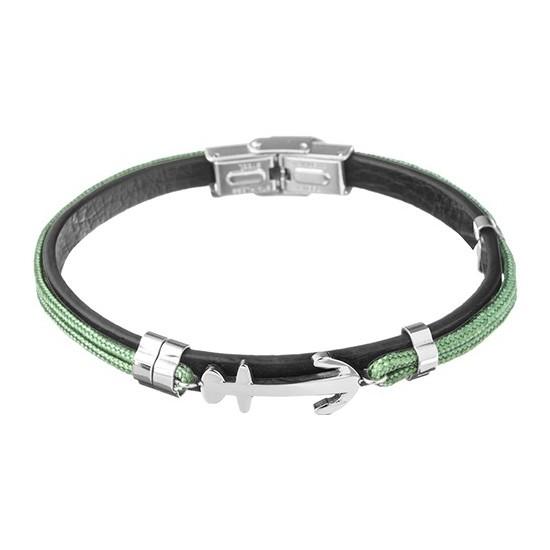 Lorenz Men's Bracelet Green/Anchor LB0023 32,45 €