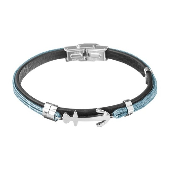 Lorenz Men's Bracelet Light Blue/Anchor LB0021 32,45 €