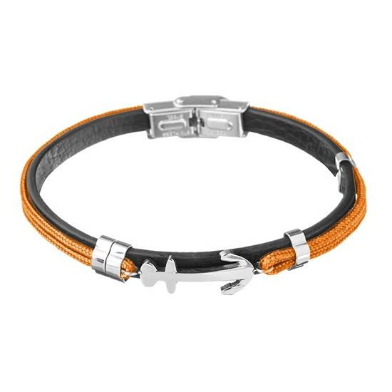 Lorenz Men's Bracelet Orange/Anchor LB0020 32,45 €