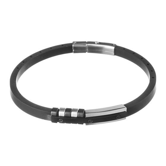 Lorenz Men's Bracelet Black Leather LB0013 32,45 €
