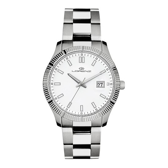 Lorenz Men's Watch Only Time Ginevra Collection White 026978FF