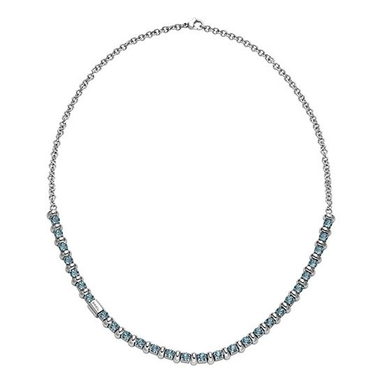 Breil Collana Donna Collezione Rolling Diamond Azzurro TJ1571