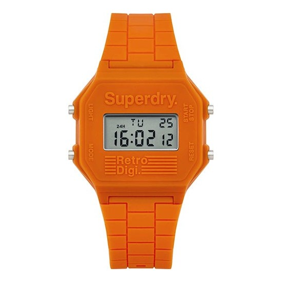 Superdry Watch Men Digital Retro Digi Collection Orange SYG201O