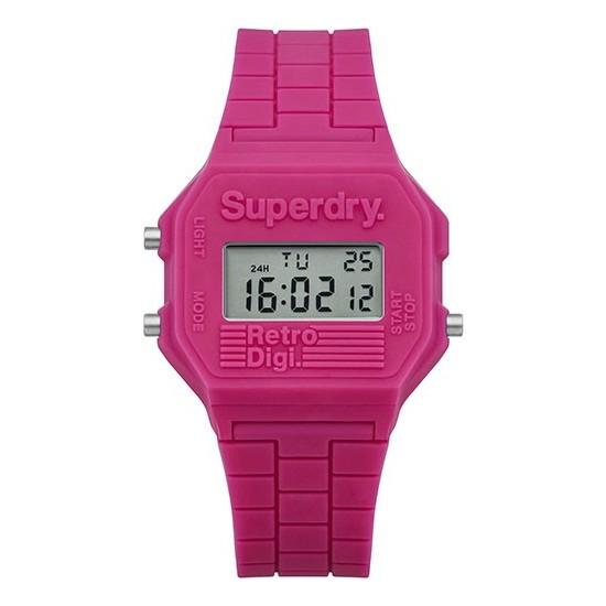 Superdry Watch Unisex Digital Retro Digi Collection Pink
